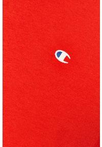 Czerwony t-shirt Champion na co dzień, casualowy, z okrągłym kołnierzem