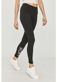Czarne legginsy Roxy gładkie