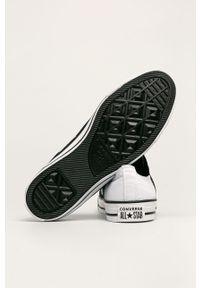 Białe tenisówki Converse z okrągłym noskiem, z cholewką