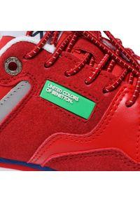 United Colors of Benetton - Sneakersy UNITED COLORS OF BENETTON - Snug Mx BTK113010 Red/White 5110. Okazja: na spacer. Kolor: czerwony. Materiał: materiał, skóra. Szerokość cholewki: normalna