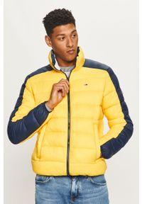 Żółta kurtka Tommy Jeans na co dzień, bez kaptura, casualowa