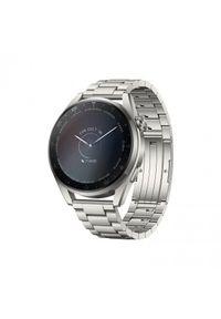 HUAWEI - Smartwatch Huawei Watch 3 Pro Titanium LTE. Rodzaj zegarka: smartwatch. Materiał: satyna, skóra, materiał. Styl: sportowy