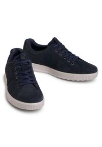 ecco - Sneakersy ECCO - Byway 50158402058 Navy. Kolor: niebieski. Materiał: zamsz, skóra. Szerokość cholewki: normalna