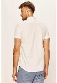 Biała koszula Tom Tailor Denim na co dzień, z krótkim rękawem