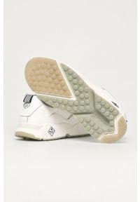 Białe sneakersy GANT na sznurówki, z cholewką