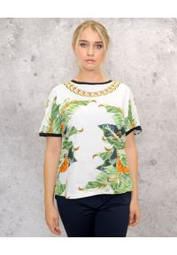 CRISTINAEFFE - Bluzka z kwiatowym nadrukiem. Kolor: biały. Wzór: kwiaty, nadruk. Sezon: lato