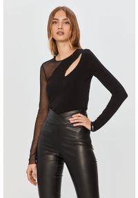 Czarna bluzka Patrizia Pepe casualowa, z długim rękawem