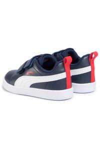 Puma Sneakersy Courtflex V2 V Inf 371544 01 Granatowy. Kolor: niebieski
