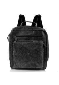 DAAG Jazzy Risk 145 plecak skórzany unisex czarny. Kolor: czarny. Materiał: skóra