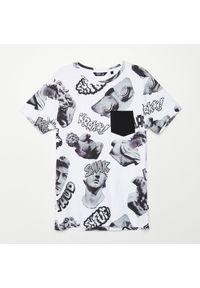 Biały t-shirt Cropp #1