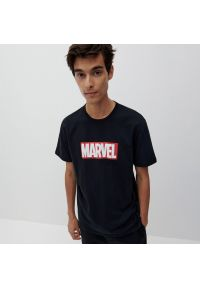 Reserved - Koszulka MARVEL - Czarny. Kolor: czarny. Wzór: motyw z bajki