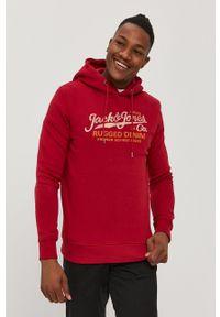 Premium by Jack&Jones - Bluza. Okazja: na co dzień. Kolor: czerwony. Wzór: nadruk. Styl: casual