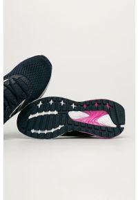 Niebieskie buty sportowe Reebok z cholewką, z okrągłym noskiem, na sznurówki