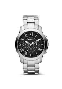 Fossil - Zegarek FOSSIL - Grant FS4736IE Silver/Steel. Kolor: srebrny. Materiał: materiał. Styl: biznesowy, vintage
