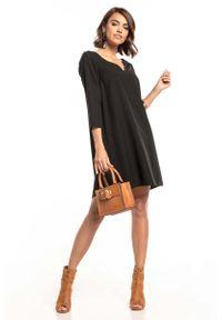 Czarna sukienka wizytowa Tessita mini