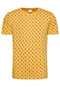 Jack & Jones - Jack&Jones T-Shirt Ole 12184641 Żółty Regular Fit. Kolor: żółty
