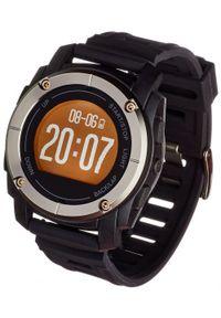Czarny zegarek Garett Electronics sportowy, smartwatch