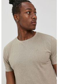 Tom Tailor - T-shirt. Okazja: na co dzień. Kolor: zielony. Materiał: bawełna, dzianina. Wzór: gładki, aplikacja. Styl: casual