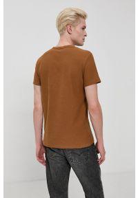 Tom Tailor - T-shirt bawełniany. Okazja: na co dzień. Kolor: brązowy. Materiał: bawełna. Wzór: gładki. Styl: casual
