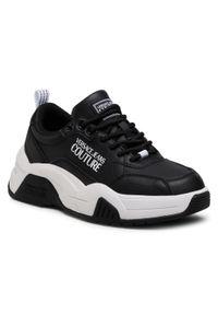 Versace Jeans Couture - Sneakersy VERSACE JEANS COUTURE - E0VWASF4 71957 899. Okazja: na co dzień. Kolor: czarny. Materiał: skóra ekologiczna. Szerokość cholewki: normalna. Sezon: lato. Styl: elegancki, sportowy, casual