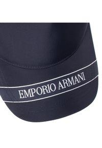 Niebieska czapka z daszkiem Emporio Armani