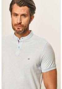 Niebieska koszulka polo TOMMY HILFIGER krótka, polo