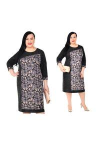 Sukienka dla puszystych Moda Size Plus Iwanek na co dzień, na jesień
