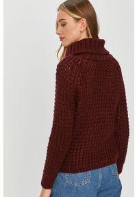 Fioletowy sweter Answear Lab wakacyjny, długi, z długim rękawem, na co dzień