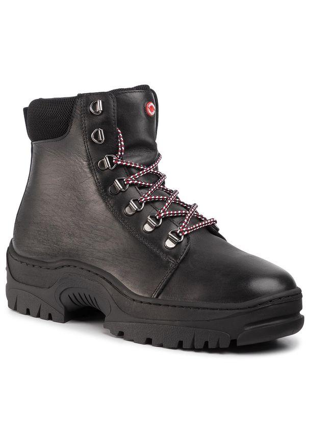 Czarne buty zimowe Nobrand casualowe, na co dzień, z cholewką