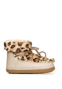 Beżowe buty zimowe Inuikii z cholewką