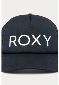 Niebieska czapka z daszkiem Roxy z aplikacjami