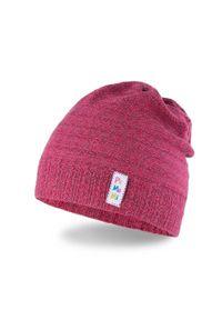 Wiosenna czapka dziewczęca typu smerfetka PaMaMi - Czerwony. Kolor: czerwony. Materiał: bawełna, elastan. Sezon: wiosna