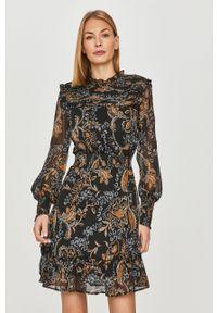 Czarna sukienka only casualowa, prosta