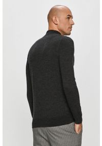 Szary sweter Karl Lagerfeld z długim rękawem, na co dzień, długi, casualowy