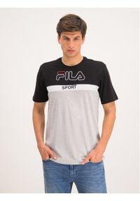 Fila T-Shirt Manning Block 682859 Szary Regular Fit. Kolor: szary