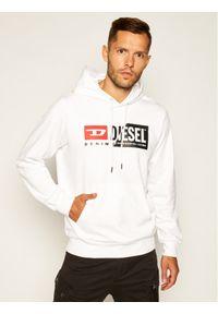 Diesel Bluza S-Girk-Hood-Cuty A00339 0IAJH Biały Regular Fit. Kolor: biały