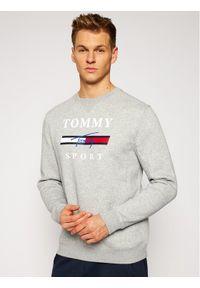 Tommy Sport Bluza Graphic Fleece Crew S20S200585 Szary Regular Fit. Kolor: szary. Styl: sportowy