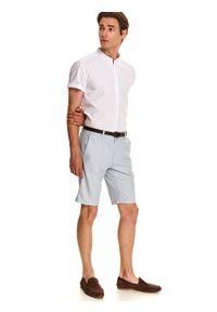 Biała koszula TOP SECRET casualowa, krótka