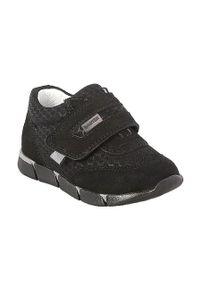 Czarne buty sportowe Bartek z okrągłym noskiem, z cholewką