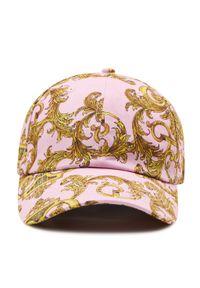 Różowa czapka Versace Jeans Couture