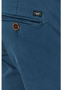 Mustang - Spodnie. Kolor: niebieski. Materiał: tkanina. Wzór: gładki