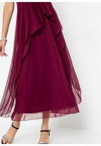 Fioletowa sukienka bonprix maxi