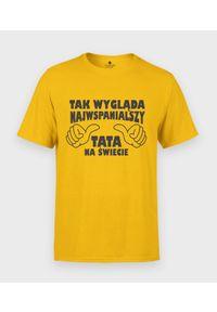 MegaKoszulki - Koszulka męska na dzień taty - Najwspanialszy tata 3. Materiał: bawełna