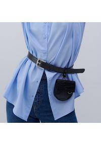 Reserved - Koszula z bawełną organiczną - Niebieski. Kolor: niebieski. Materiał: bawełna