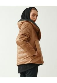 MMC STUDIO - Brązowa kurtka dwustronna Dale Light. Kolor: brązowy. Materiał: tkanina, guma, nylon. Wzór: aplikacja. Sezon: wiosna