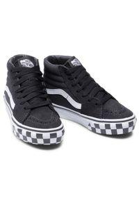 Vans - Sneakersy VANS - Sk8-Hi VN0A4BUW34A1 (Check Bumper)Asphlttrwht. Kolor: czarny. Materiał: zamsz, materiał, skóra
