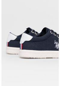 U.S. Polo Assn. - Tenisówki. Nosek buta: okrągły. Zapięcie: sznurówki. Kolor: niebieski. Materiał: guma