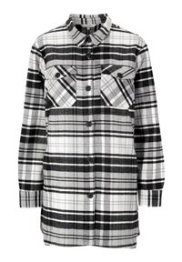 Cellbes Kraciasta kurtka koszulowa w kratkę female ze wzorem 62/64. Długość rękawa: długi rękaw. Długość: długie. Wzór: kratka