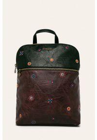 Fioletowy plecak Desigual z aplikacjami