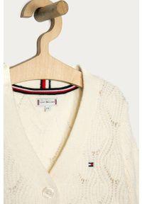 Kremowy sweter TOMMY HILFIGER na co dzień, casualowy